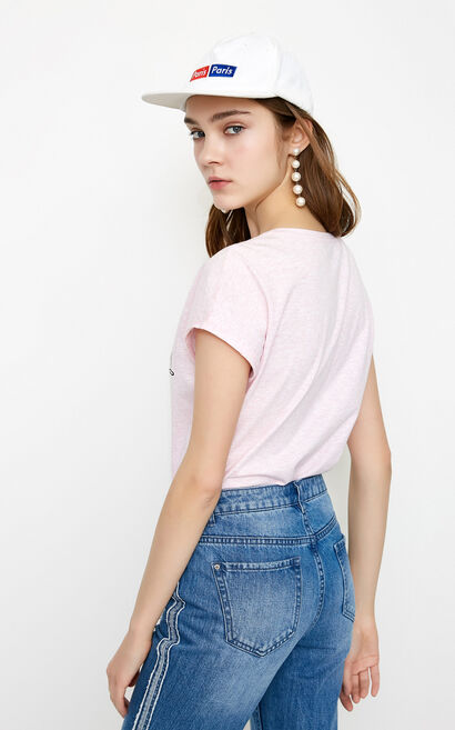 LAGE S/S TOP(SL), Pink, large
