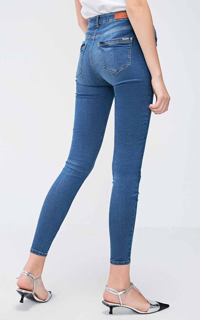 Vero Moda Women's Slim Fit Washed Jeans|318332506, Blue, large