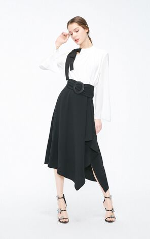 Vero Moda 2019 Spring New Irregular Silhouette High-rise Skirt|319116537