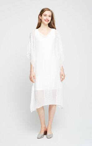 Vero Moda Women's Loose Fit Real Two-piece Embroidered Dress|31726Z512