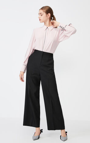 Vero Moda 2019 Autumn & Winter High-rise Zipped Fly Side Pockets Pants 3194PL502