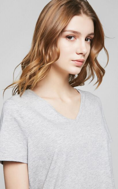 PURE S/S TOP(MM)-OR, Grey, large