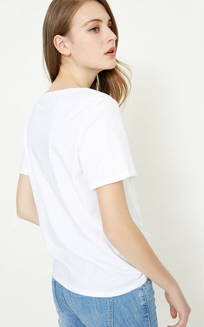 ELODIE S/S TOP(SL), White, large