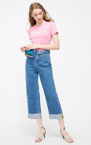 Vero Moda 2019 Women's Summer Waist Pack Wide-leg Jeans