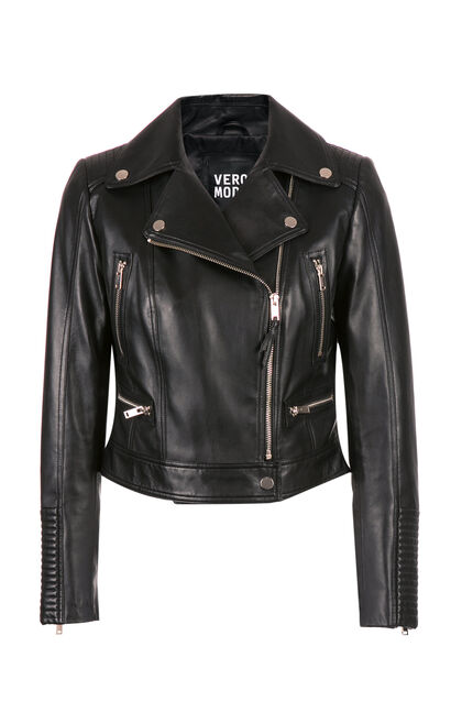 IZARA L LEATHER JACKET(NC), Black, large
