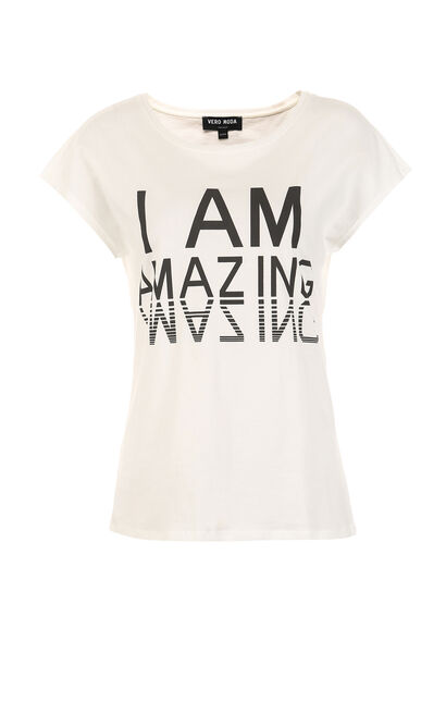 AMAIZING S/S TOP(MM)-OR, White, large