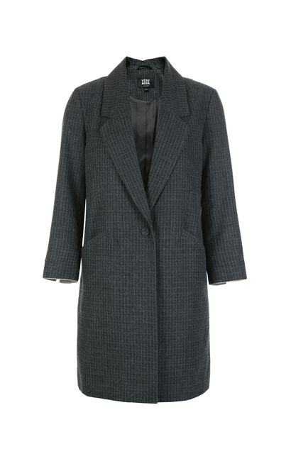 VIVANNA STRIPE 7/8 BLAZER(NC), Grey, large
