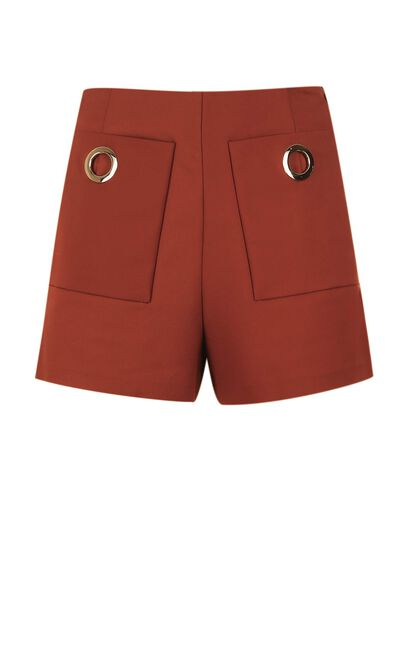 SAMMI SHORTS(TP), Dark Brown, large