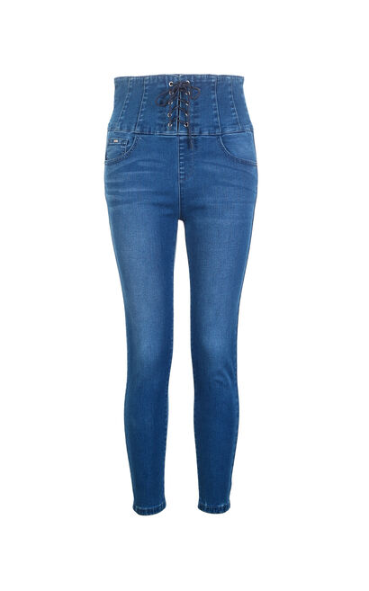 SHEPHERD CURTAIN 7/8 HW X-SLIM JEANS(FL), Blue, large