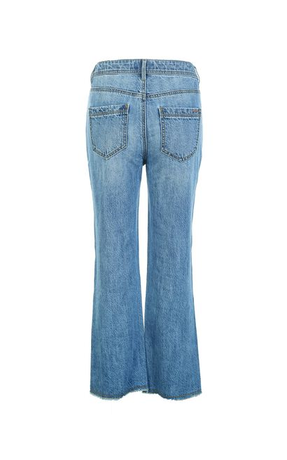 FACIAL 7/8 HW SLIM STRAIGHT JEANS(NN), Blue, large