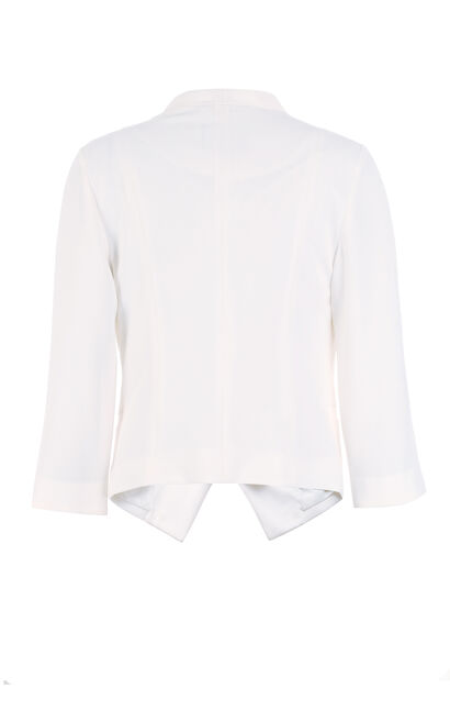 Vero Moda V-neckline One-button 3/4 Sleeves Suit Jacket|317208502, White, large