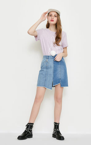 MOONCAKE HW DENIM SKIRT(NC)