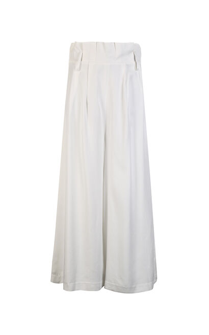 BENNET SOFT 7/8 WIDE PANTS(NN), White, large