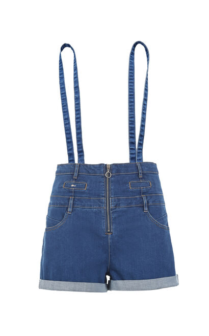 LOST HW DENIM SHORTS(RN), Blue, large