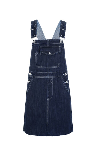 STAPES DENIM DRESS(SL), Blue, large