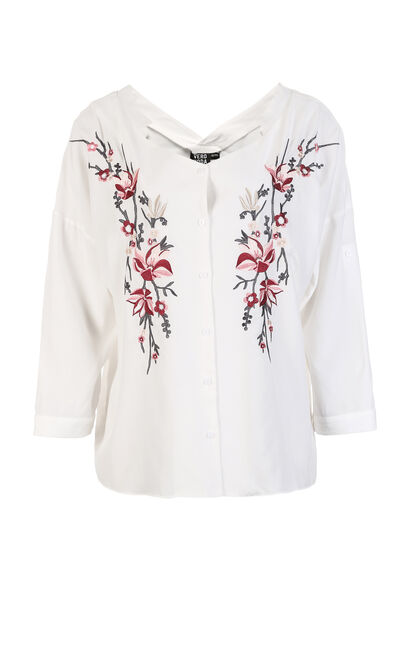 JUDY TINA 3/4 SHIRT(NR), White, large