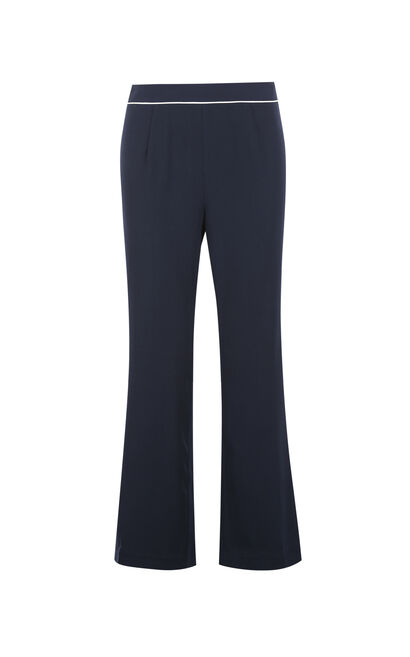 Vero Moda Straight pajamas-style casual Capri pants|31736J515, Blue, large