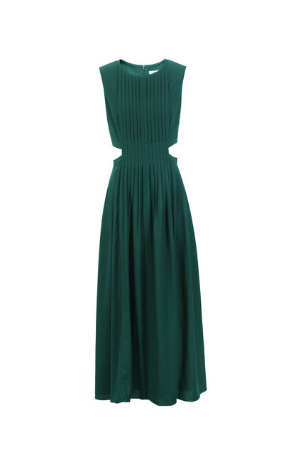 Vero Moda A-lined Pleated Dress|31917A502, Green, large