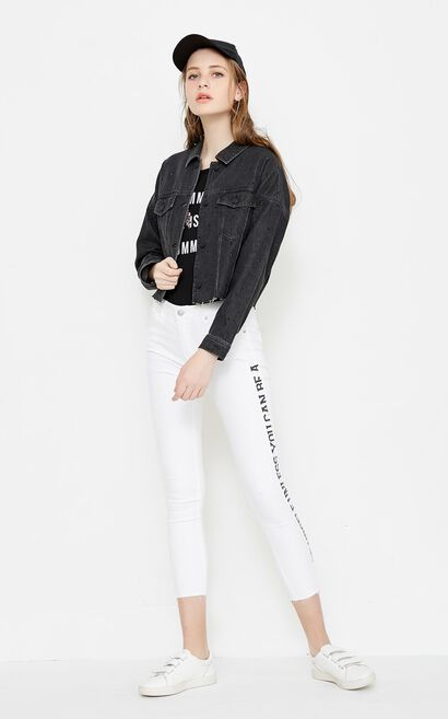 OPHELIA SHORT DENIM JKT(SL), Black, large