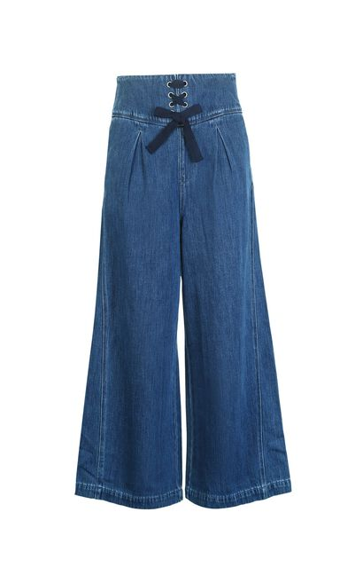 BAMBI 9/10 HW LOOSE JEANS(NR), Blue, large