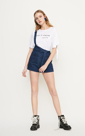 PASSION HW DENIM CATSUIT SHORTS(NN)