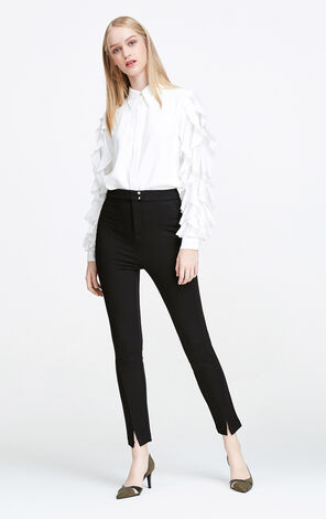 Vero Moda Split Cuffs Casual Crop Pants|317450508