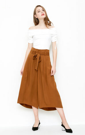 Vero Moda Women Pleated Wide-leg Culottes 31826J516