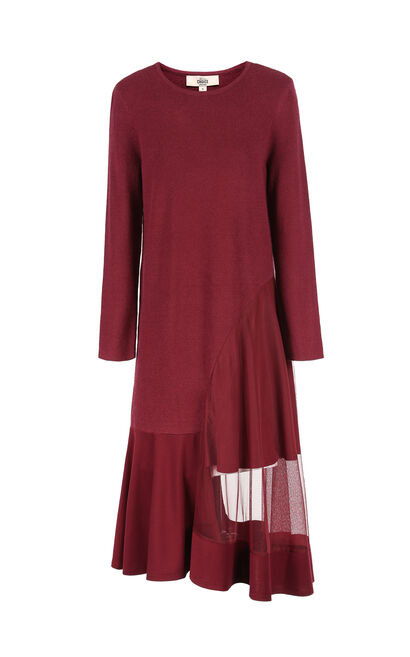 CHOICE CAMEL L/S KNIT DRESS-OR, Red, large