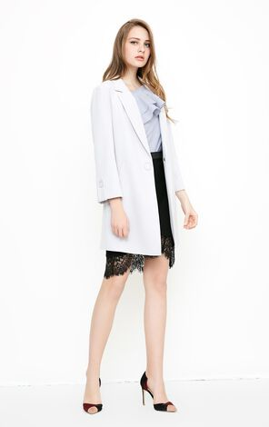 Vero Moda OL Ring Straight Medium Length Coat|318108507