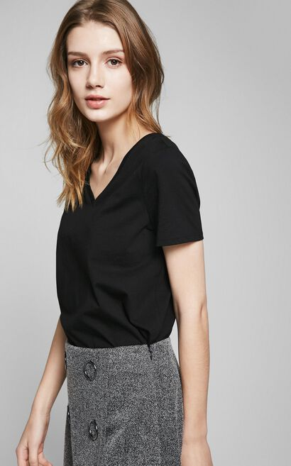 PURE S/S TOP(MM)-OR, Black, large