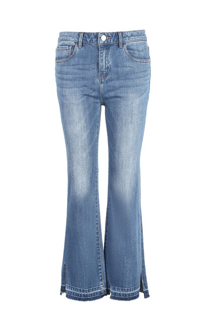 Vero Moda 2019 Women's Summer Mid-rise Edging Crop Jeans, Blue, large