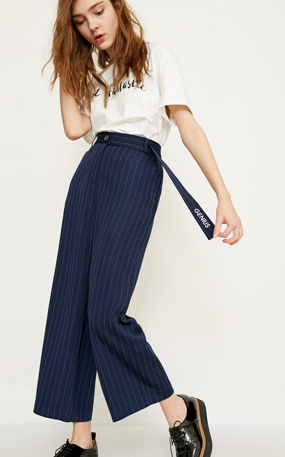 VICKY 9/10 LOOSE PANTS(SL), Blue, large