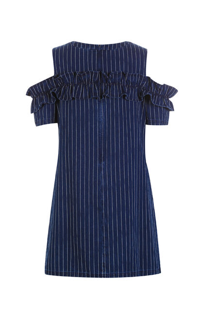 COCONUT DENIM DRESS(NC), Blue, large