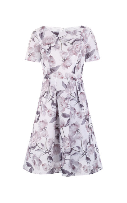 Vero Moda Printed Short-sleeved A-line Chiffon Dress|31717B507, Apricot, large
