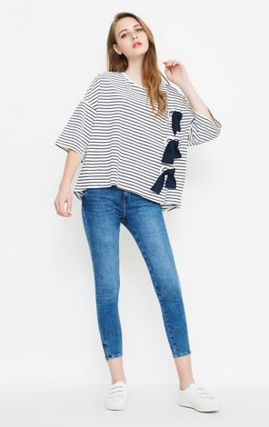 DRAMA STRIPES 3/4 TOP(NC)