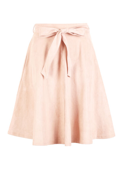Vero Moda Lace-up Suede A-line Skirt|31741G513, Pink, large