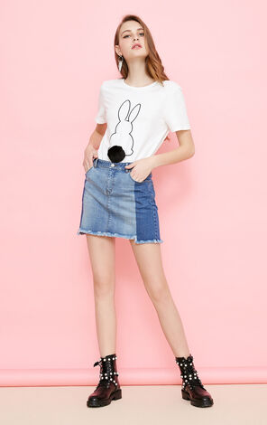 Vero Moda Detachable Pom-pom Cartoon Pattern T-shirt|318101507