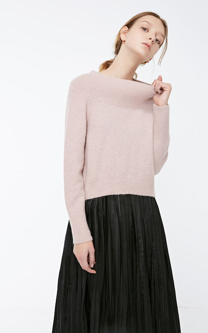 Vero Moda Women's Ribbed Round Neckline Long-sleeved Two-piece Dress|318346533, Pink, large