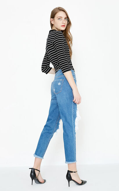 HORN 9/10 MW GIRLFRIEND JEANS(NR), Blue, large