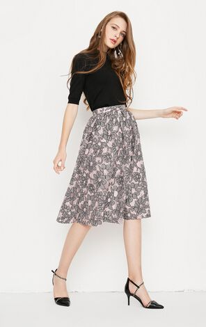 Vero Moda Flora Patch Lace Skirt|318216501