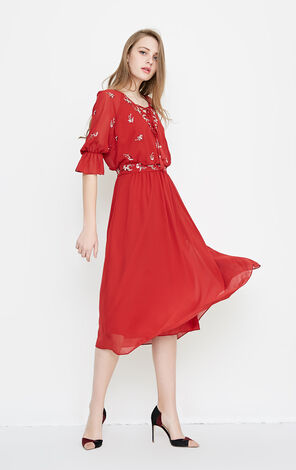Vero Moda SUNNY 1/2 LONG DRESS(VMC-NN)