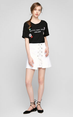 Vero Moda Drop-shoulder Short Sleeve T-Shirt|317201525