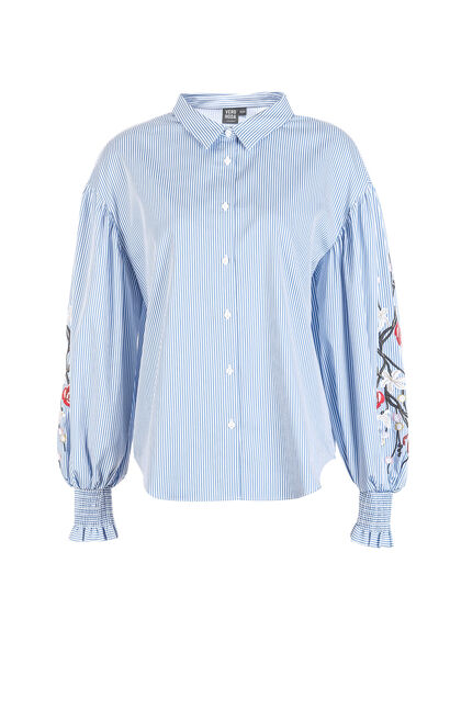 WASP STRIPE L/S SHIRT(UR), Light blue, large