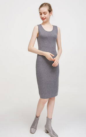 Vero Moda Layered Design Two-piece Knitted Dress|317446517