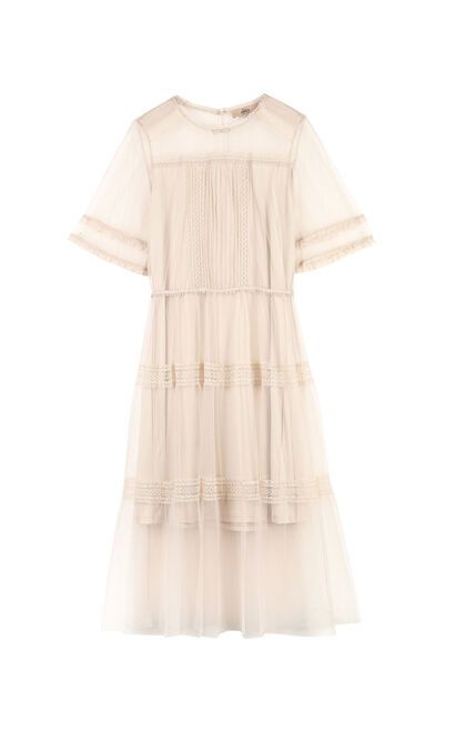 Vero Moda 2019 new lace gauze dress|319261502, Pink, large