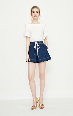 Vero Moda Visible Stitches High-rise Denim Shorts|318243524