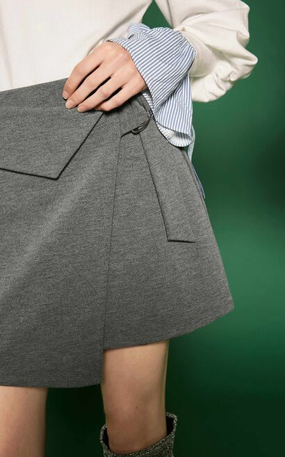 SURI JERSEY SKIRT(NC), Grey, large