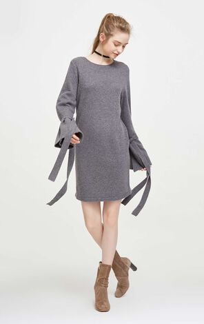 PHYLLIS L/S KNIT DRESS(UR)