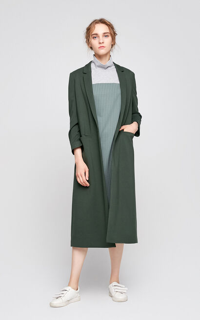 Vero Moda Regular Fit One-button Front Wind Coat|317308506, Green, large