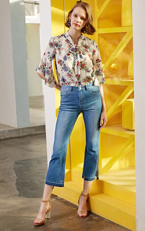 Vero Moda 2019 Women's Summer Mid-rise Edging Crop Jeans
